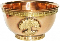 View Buying Options For The Tree of Life Copper Offering Bowl