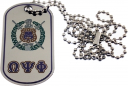View Buying Options For The Omega Psi Phi Epoxy Coated Double Sided Dog Tag