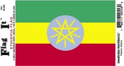 View Buying Options For The Ethiopia Flag Car Decal Sticker [Pre-Pack]