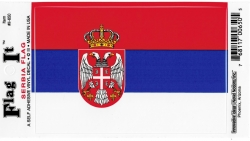 View Buying Options For The Serbia Flag Car Decal Sticker [Pre-Pack]