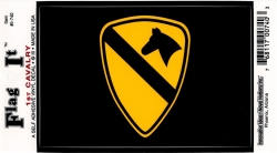 View Buying Options For The 1st Cavalry Division Shield Car Decal Sticker [Pre-Pack]
