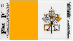 View Buying Options For The Vatican City Papal Flag Car Decal Sticker [Pre-Pack]