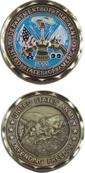 View Buying Options For The Department of the US Army Defending Freedom Challenge Coin