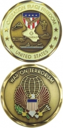 View Buying Options For The Operation Iraqi Freedom War On Terrorism Challenge Coin
