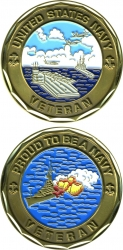 View Buying Options For The Proud To Be A US Navy Veteran Challenge Coin