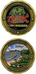 View Buying Options For The United States Armed Forces Vietnam Veteran 1959-1975 Challenge Coin