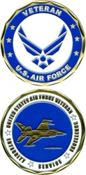 View Buying Options For The US Air Force Veteran Integrity Service Excellence Challenge Coin