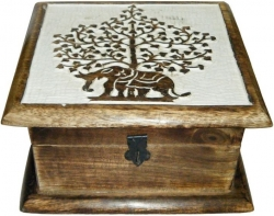 View Buying Options For The Elephant Tree of Life Wood Box