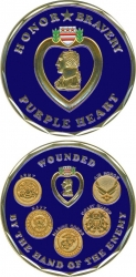 View Buying Options For The Purple Heart Honor Bravery Challenge Coin