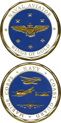 View Buying Options For The Naval Aviator Wings of Gold Challenge Coin