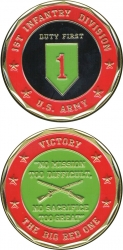 View Buying Options For The 1st Infantry Division Duty First Challenge Coin