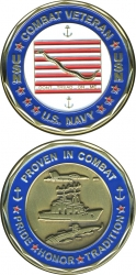 View Buying Options For The US Navy Combat Veteran Pride Honor Tradition Challenge Coin