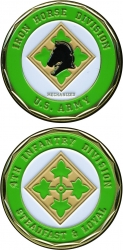 View Buying Options For The 4th Infantry Iron Horse Division Steadfast & Loyal Challenge Coin