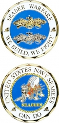 View Buying Options For The US Navy Seabees Warfare We Build We Fight Challenge Coin