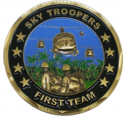 View Buying Options For The 1st Cavalry Division Vietnam Veteran Sky Troopers Challenge Coin