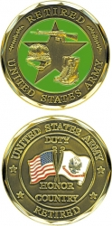 View Buying Options For The United States Army Retired Duty Honor Country Challenge Coin