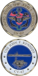 View Buying Options For The USS John F. Kennedy CV-67 Challenge Coin