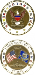 View Buying Options For The US Navy Retired Challenge Coin