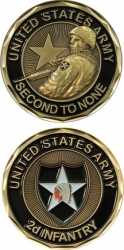 View Buying Options For The 2nd Infantry Division Second To None Challenge Coin