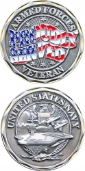 View Buying Options For The US Navy Veteran Proudly Served Challenge Coin