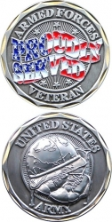 View Buying Options For The US Army Veteran Proudly Served Challenge Coin