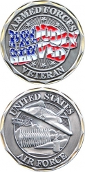 View Buying Options For The US Air Force Veteran Proudly Served Challenge Coin