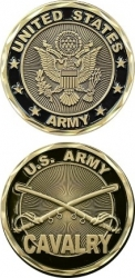 View Buying Options For The United States Army Cavalry Challenge Coin