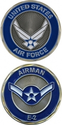 View Buying Options For The United States Air Force Airman E-2 Challenge Coin