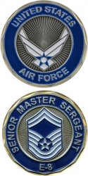 View Buying Options For The United States Air Force Senior Master Sergeant E-8 Challenge Coin