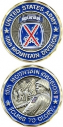 View Buying Options For The United States Army 10th Mountain Division Climb To Glory Challenge Coin