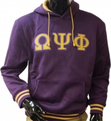 View Buying Options For The Omega Psi Phi Applique Pullover Mens Hoodie