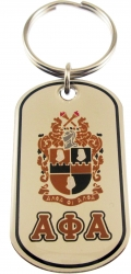 View Buying Options For The Alpha Phi Alpha Epoxy Coated Double Sided Dog Tag Key Ring