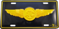 View Buying Options For The US Naval Aviation Air Crew Insignia Embossed Metal License Plate