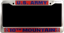 View Buying Options For The US Army 10th Mountain Metal License Plate Frame