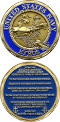 View Buying Options For The United States Navy Ethos Challenge Coin