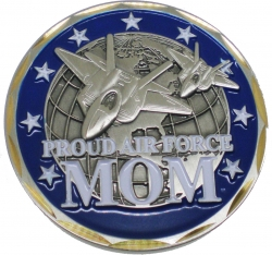 View Buying Options For The Proud United States Air Force Mom Challenge Coin