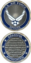 View Buying Options For The US Air Force Spouse Grateful Appreciation Challenge Coin
