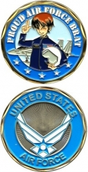 View Buying Options For The Proud United States Air Force Brat Challenge Coin