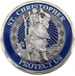 View Buying Options For The St. Christopher Protect Us Prayer Spirit Challenge Coin
