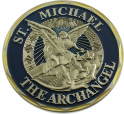 View Buying Options For The St. Michael The Archangel Psalms 91:10 Spirit Challenge Coin