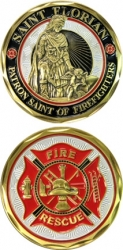 View Buying Options For The St. Florian Patron Saint of Firefighters Challenge Coin