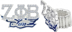 View Buying Options For The Zeta Phi Beta Dove Austrian Crystal Stretchy Band Ring