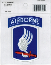 View Buying Options For The Eagle Crest 173rd Airborne Brigade Sky Soldiers Outside Car Decal Sticker [Pre-Pack]