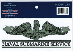 View Buying Options For The Naval Submarine Service Enlisted Badge Outside Car Decal Sticker [Pre-Pack]