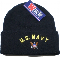View Buying Options For The U.S. Navy with Logo Cuff Mens Beanie Watch Cap