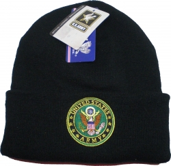 View Buying Options For The US Army with Logo Cuff Beanie Mens Watch Cap