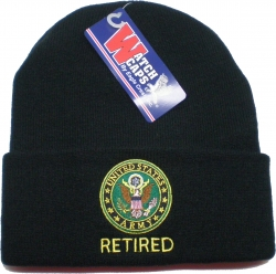 View Buying Options For The US Army Retired Cuff Beanie Mens Watch Cap