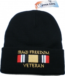 View Buying Options For The Iraqi Freedom Veteran with Ribbon Mens Cuff Beanie Watch Cap