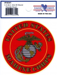 View Buying Options For The US Marine Corps E.G.A. with Shield Outside Car Decal Sticker [Pre-Pack]