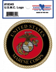 View Buying Options For The U.S. Marine Corps Logo Round Outside Car Decal Sticker [Pre-Pack]